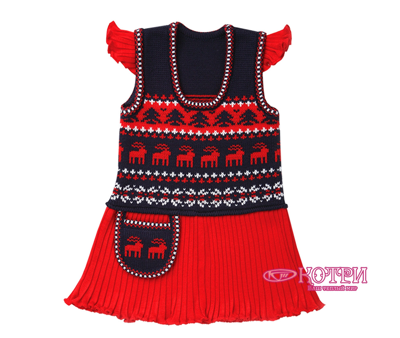 Платье-сарафан детский Зимние фантазии артикул 112-1 в Коврове на PromPortal.su (ID# 1243159
